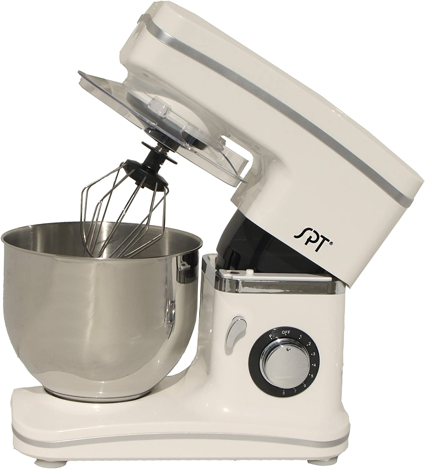 SPT MM-106W 8-Speed Stand Mixer White Stand Mixers Home ...