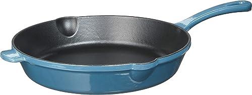 """wholesale Cuisinart CI22-24BG Chef's wholesale Classic Cast Iron Round outlet online sale Fry Pan, 10"""", Enameled Provencial Blue outlet online sale"""