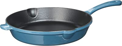 """Cuisinart CI22-24BG Chef's Classic Cast Iron Round Fry Pan, 10"""", Enameled Provencial Blue"""