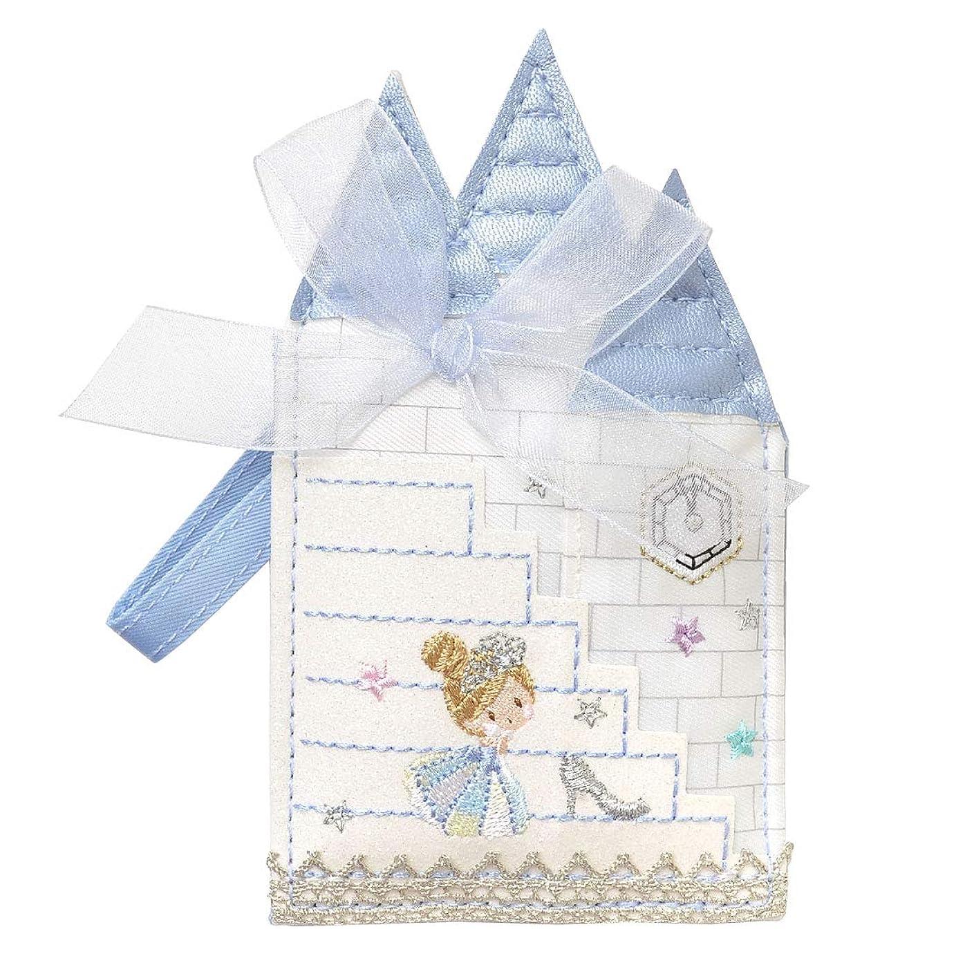ぬいぐるみ貝殻閲覧するパスケース リール付き 定期入れ レディース プリンセス Fairy Tale フェアリーテール かわいい キャラクター 刺繍 ダイカット 型抜き 女性