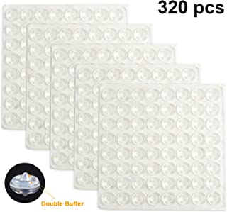 Blulu 320 Pack Soft Close Cabinet Bumper Sound Dampening Cabinet Door Bumpers Clear Adhesive Rubber Bumper Transparent Rubber Feet for Drawers, Cupboards.