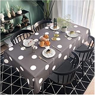 GJX Manteles Mantel rectángulo for el hogar for la Mesa de la Cocina Cubierta de la Mesa a Prueba de Polvo Durable fácil d...