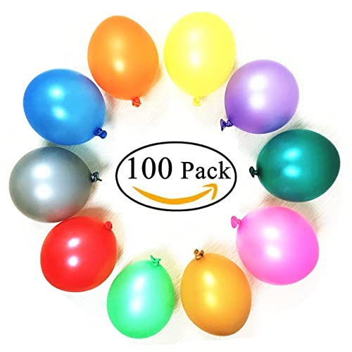 Party Balloons100 Helium Quality Latex 12 Inches Rainbow Set 100 Pack