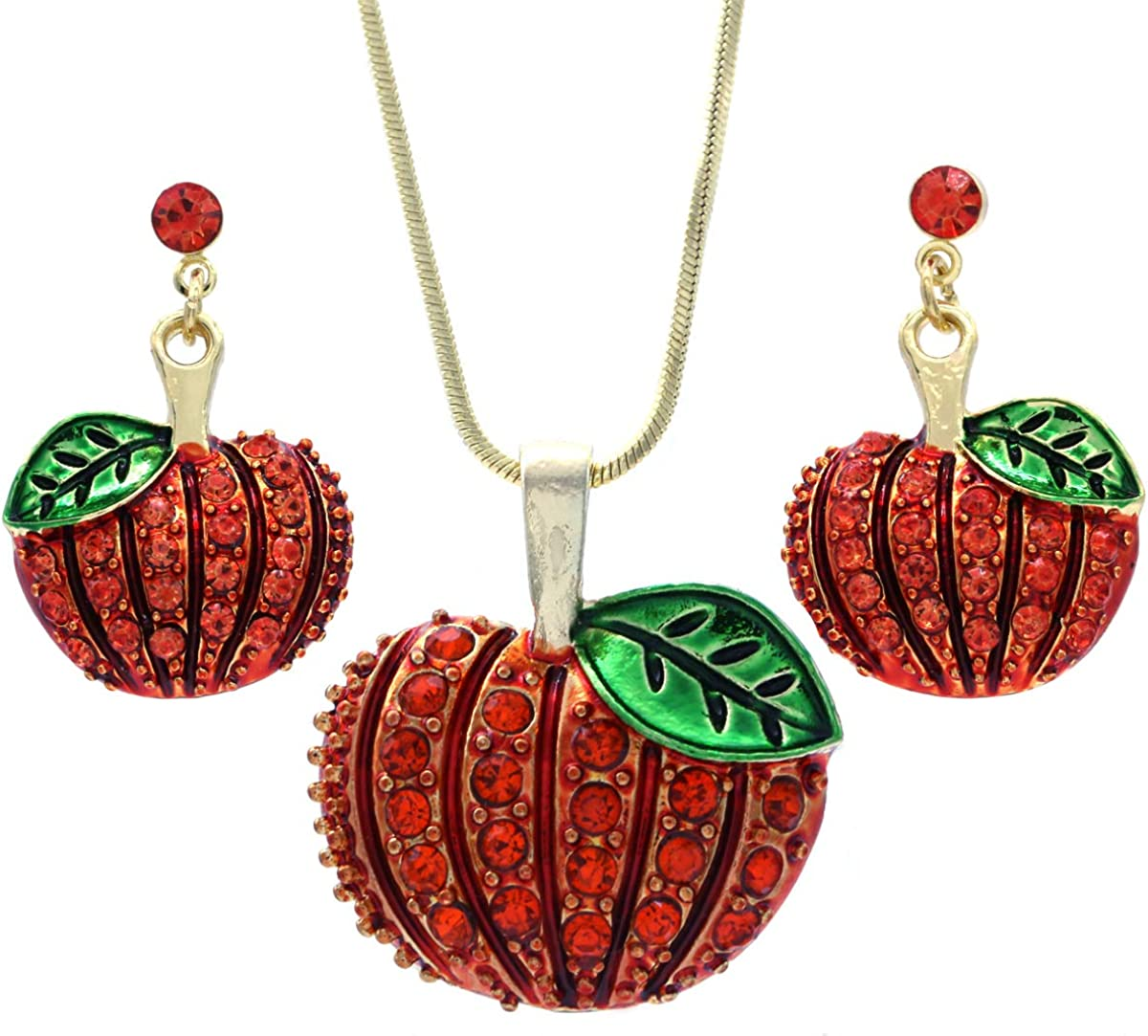 SoulBreezeCollection Pumpkin 67% OFF of fixed shopping price Post Stud Neck Earrings and Pendant