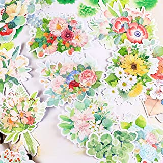 Everjoy Watercolor Flower Bouquet Planner Stickers, DIY Decorative Embellishments, Adhesive Garden Wildflowers for Scrapbook, Journal, Card Making, Letters, Calendar – 20 Pieces