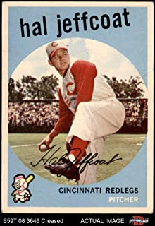 1959 Topps # 81 Hal Jeffcoat Cincinnati Reds (Baseball Card) Dean's Cards 3.5 - VG+ Reds