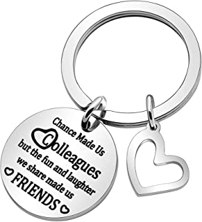 Best friends keychain Women Friendship Key Chain Chance Made Us Colleagues Funny Birthday Go Away Keychain Accessories