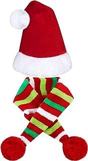 2 Pieces Christmas Pet Dog Santa Hat Pet Santa Scarf for Christmas Pet Dogs Cats Dressing Up Supplies