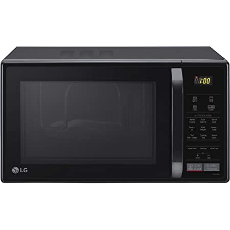 LG 21 L Convection Microwave Oven (MC2146BG, Glossy Black, With Starter Kit)