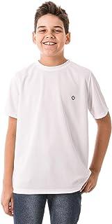 Camiseta Infantil Masculina com Proteção Solar Manga Curta Extreme UV Dry