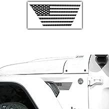 Bogar Tech Designs - Precut American Flag Vinyl Decals for Side Fender Vent Compatible with Jeep Wrangler JL 2018, 3D Carbon Fiber Black