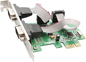 IO Crest 2 Port Serial PCI-e 1.0 x 1 with Full and Low Profile Brackets SI-PEX15037