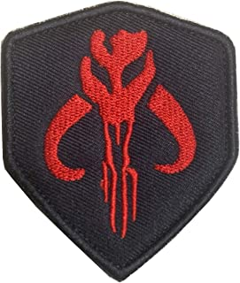 Star War Mandalorian Bantha Skull Mercenary Shield Bounty Hunter Boba FettMorale Military Embroidered Morale Patch Hook & ...