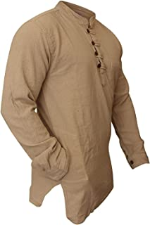 Shopoholic Fashion Mens Plain Washed Out Hippie Shirts