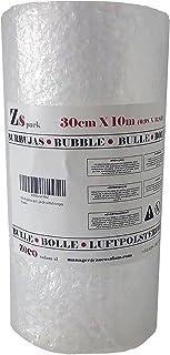 Zs Products - Rollo de plástico de burbujas. Papel de burbujas de calidad europea. Ancho 0,30 metros Largo 10 metros