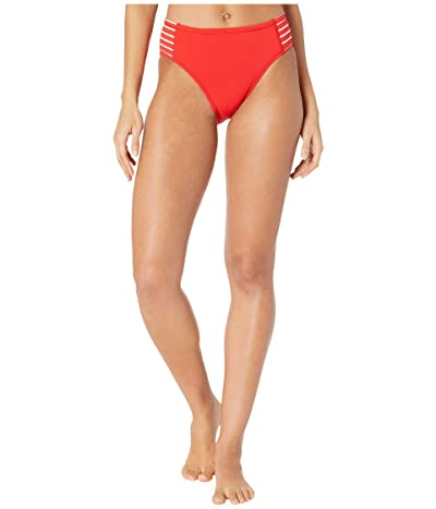 Robin Piccone Sailor High Hip Bottoms (Fiery Red/White) Women