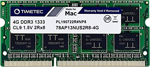 Timetec Hynix IC compatible with Apple 4GB DDR3 1333MHz PC3-10600 SODIMM Memory Upgrade For selected MacBook Pro /iMac /Mac mini