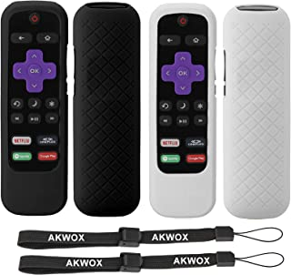 2-Pack AKWOX Remote Case for Roku Express 3930 (2019)/3900, Premiere+ 3921/Premiere 3920, Express+(3910), Streaming Stick3...