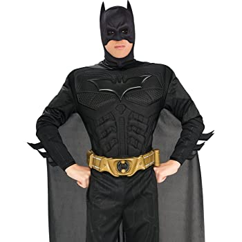 Deluxe Batman /'The Dark Knight Trilogy/' Muscle Chest Fancy Dress Costume