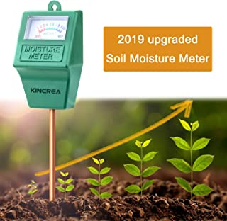 KINCREA Soil Moisture Meter, Hygrometer Soil Water Monitor for Garden, Lawn Plants Indoor Outdoor, Battery Free JP02