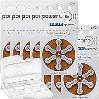 60x Varta Power One 312 Hörgerätebatterien 10x6er Blister PR41 Braun 24607 + Aufbewahrungsbox für 2 Hörgerätebatterien...