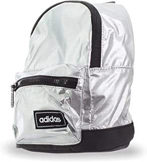 adidas Womens Classic Metallic XS Backpack, Metallic Silver/Black/White