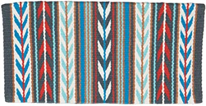 Nrs Mayatex Exclusive Trinity Navajo Blanket Royal/Aqua/Red 36X34
