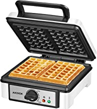 Sponsored Ad - Belgian Waffle Maker Machine Non-Stick, AICOOK 1200W Waffle Iron with Shade Selector, Mess-Free Moat, Indic...
