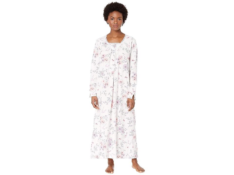 Carole Hochman Soft Jersey Long Gown (Multi Rose Floral) Women