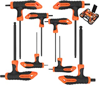 """HORUSDY 8-Piece T-Handle Allen Wrench set, Long Arm Ball End Hex Key Wrench Set, Imperial (5/64""""-3/8"""")"""
