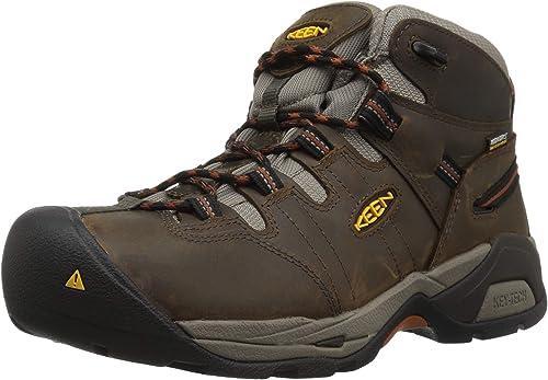 Keen Utility Men's Detroit XT Mid Soft Waterproof Industrial botas, negro Olive Leather marrón, 10 D US