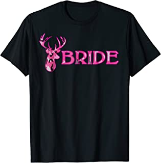 Wedding Bachelorette Deer Camouflage Bride T-Shirt