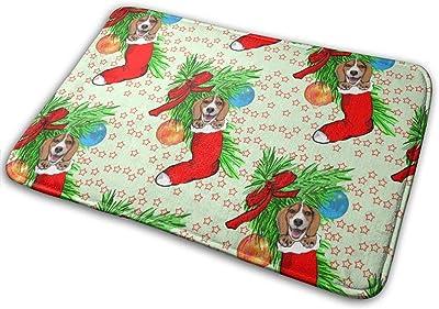 """Beagle Christmas_32082 Doormat Entrance Mat Floor Mat Rug Indoor/Outdoor/Front Door/Bathroom Mats Rubber Non Slip 23.6"""" X 15.8"""""""