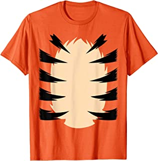 Arancione Costume da Tigre Leone Bambini Camuffare Costume Maglietta