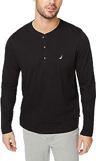 قميص بيجامة رجالي بأكمام طويلة من Nautica