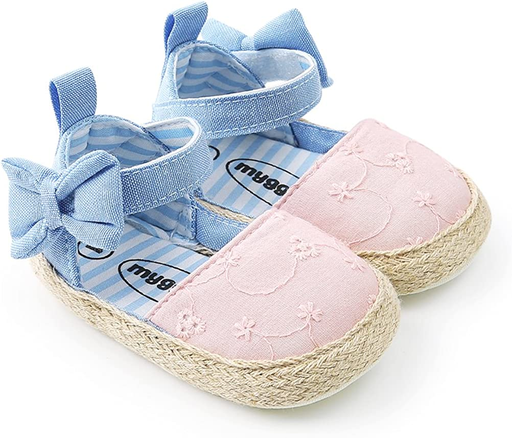 Baby Girls Princess Bowknot Soft Crib Dedication Al sold out. Sneaker Shoes Sole
