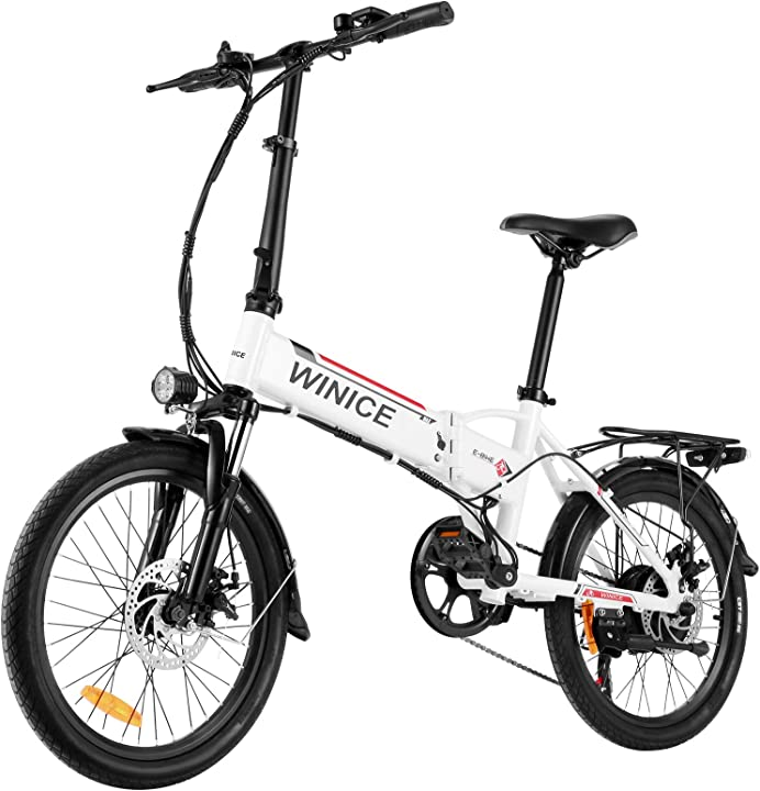 Bici elettrica pieghevole, 20 pollici bicicletta batteria litio da 36v 8ah, shimano a 7 velocità - bici città B08MFH9KLN