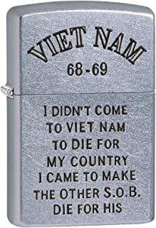 Zippo Lighter: Vietnam Trench Art, Country - Street Chrome 80784