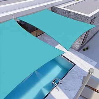 JT-House Waterproof Sun Shade Sail, UV-Block Sail Shade Canopy, Rectangle Sun Shade for Outdoor Garden Backyard