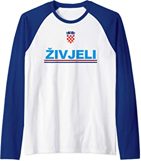 Zivjeli! Cheers In Croatian Tee Shirt Funny Croatia Souvenir Raglan Baseball Tee