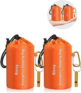 Timok Emergency Sleeping Bags Thermal-Emergency-BlanketsUltralight Space Blankets Survival Waterproof Bivy Sack Multi-Pur...