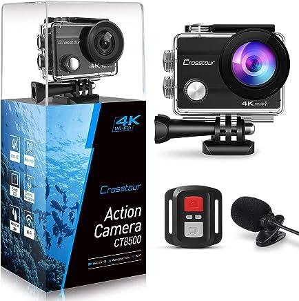 Crosstour 4K 16MP Action Camera Underwater Cam WiFi...