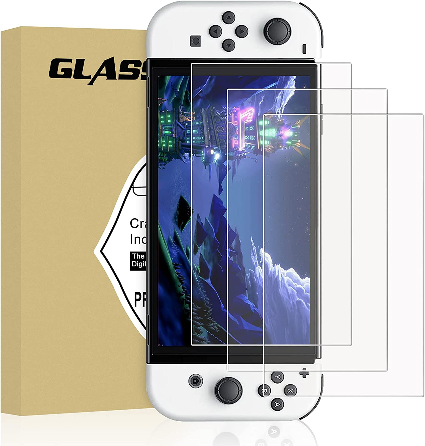 Atlanta Mall Tempered Glass Screen Protector Max 89% OFF Compatible 2021 with Switch OLED