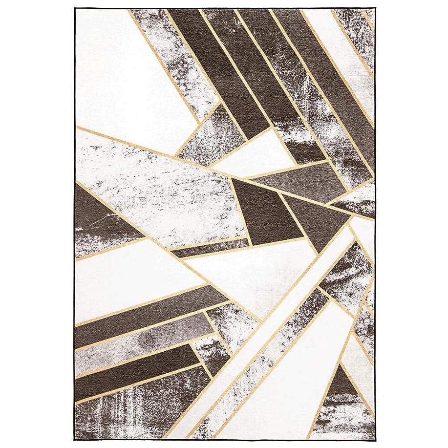 橋脚手術フォーマルCHENGYI カーペット シンプルでスタイリッシュなブラウンジオメトリックノルディックフレッシュリビングルームカーペットベッドルームホームベッドサイドブランケットソファ畳のコーヒーテーブルマットポリエステル