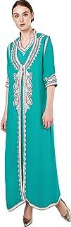 Baya Muslim Dress Dubai Kaftan For Women Long Sleeve Long Arabic Dress Abaya Islamic Clothing Girls JALABIYA Caftan 2PCs
