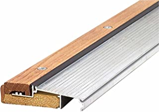 M-D Building Products 76281 1-1/8-Inch by 4-9/16-Inch 73-Inch TH393 Adjustable Aluminum and Hardwood Sill Inswing, Mill