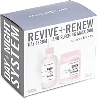 Valjean Labs Revive + Renew Day Serum and Sleeping Mask Duo