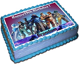 Fortnite (7 Season) Personalized Cake Toppers Icing Sugar Paper 1/4 8.5 x 11.5 Inches Sheet Edible Frosting Photo Birthday Cake Topper Fondant Transfer (Best Quality Printing)