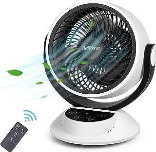 Ventilador de Mesa, Ventilador Silencioso, Ventilador Turbo, Potente Circulación de Corriente de Aire, Pantalla Táctil LCD, Control Remoto, Sincronización 1-7 Horas, 3 Velocidades, Fácil de Operar