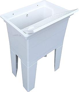 comprar comparacion Adventa - Lavadero monobloque de Resina PP para Exterior, Blanco, 59 x 41 x 75 cm